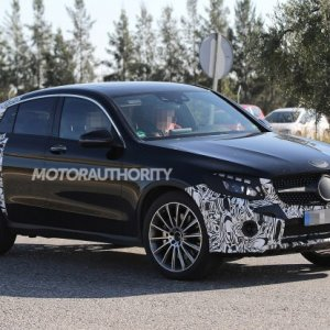 2017 mercedes benz glc450 amg coupe spy shots